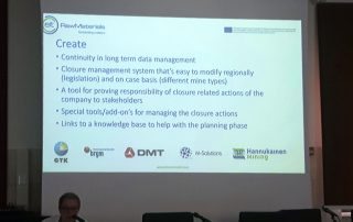 Closurematic project manager Lauri Solismaa (GTK) presenting the project. Photo: Pontus Westrin.